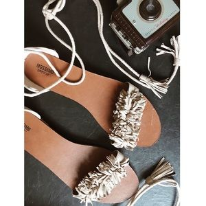 Mossimo Supply Co. - Lace Up Tassel Sandals
